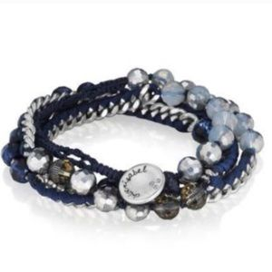 Chloe and Isabel Navy and silver wrap